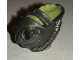 Part No: 26099pb01  Name: Minifigure, Head Modified Reptile with Pearl Dark Gray Breathing Mask Pattern (SW Teedo)