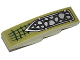 Part No: 61678pb075  Name: Slope, Curved 4 x 1 No Studs with Silver Crocodile Scales Pattern (Sticker) - Set 70126