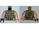 Part No: 973pb1346c01  Name: Torso Batman Body Armor with Suspenders Pattern / Light Flesh Arms / Light Flesh Hand Left / Black Hand Right