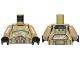 Part No: 973pb1590c01  Name: Torso SW Armor Camouflage Kashyyyk Clone Trooper Pattern / Dark Tan Arms / Black Hands