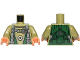 Part No: 973pb2502c01  Name: Torso SW Jumpsuit with Harness Pattern (Bistan) / Olive Green Arms / Flesh Hands