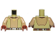 Part No: 973pb2564c01  Name: Torso SW Open Shirt with Utility Belt and Yellow Triangle Pattern (Kanan Jarrus) / Dark Tan Arms / Reddish Brown Hands