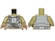 Part No: 973pb3038c01  Name: Torso SW Resistance A-wing Pilot with DB Gray Vest and LB Gray Front Panel with Breathing Apparatus Pattern / Olive Green Arms / Dark Tan Hands