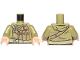 Part No: 973pb3124c01  Name: Torso SW Hoodie Jacket with Dark Tan Pockets on Shoulder Strap and Admiral Badge Pattern (Admiral Ematt) / Olive Green Arms / Light Flesh Hands
