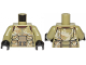 Part No: 973pb3464c01  Name: Torso SW Armor Camouflage Elite Corps Trooper Pattern 2 / Olive Green Arms / Black Hands