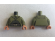 Part No: 973pb3570c01  Name: Torso SW Cloak with Dark Bluish Gray Shirt and Silver Belt Pattern / Olive Green Arms / Flesh Hands