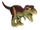 Part No: TRex03  Name: Dino T-Rex with Reddish Brown and Dark Brown Back - Complete Assembly