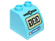 Part No: 11170pb03  Name: Duplo, Brick 2 x 2 x 1 1/2 with Curved Top and '123' and 'REGULAR' Fuel Pump Pattern