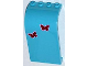 Part No: 2571pb06  Name: Panel 3 x 4 x 6 Curved Top with 2 Butterflies Pattern (Stickers) - Set 3186