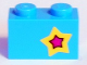 Part No: 3004pb175R  Name: Brick 1 x 2 with Yellow and Magenta Star on Right Side Pattern (Sticker) - Set 41346