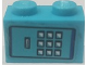 Part No: 3004pb182  Name: Brick 1 x 2 with Keypad Pattern (Sticker) - Set 75824
