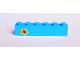 Part No: 3009pb211  Name: Brick 1 x 6 with Yellow and Magenta Star on Left Side Pattern (Sticker) - Set 41346