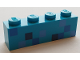 Part No: 3010pb246  Name: Brick 1 x 4 with Minecraft Diamond Armor Pattern