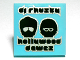 Part No: 3068bpb0593  Name: Tile 2 x 2 with 'dj rhusty', 'hollywood dawez' and Black Heads with Glasses Pattern