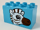 Part No: 31111pb050  Name: Duplo, Brick 2 x 4 x 2 with Zebra Head Pattern