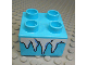Part No: 3437pb081  Name: Duplo, Brick 2 x 2 with White Icicles Pattern