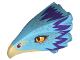 Part No: 38832pb01  Name: Bird Head Upper Jaw with Dark Tan Beak and Purple Feathers Pattern (Occamy)