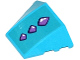 Part No: 64225pb015  Name: Wedge 4 x 3 No Studs with 3 Medium Lavender Geometric Dragon Scales Pattern (Sticker) - Set 41172