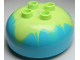 Part No: 98220pb03  Name: Duplo, Brick Round 4 x 4 Dome Top with 2 x 2 Studs and Marbled Yellowish Green Pattern