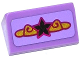 Part No: 85984pb079  Name: Slope 30 1 x 2 x 2/3 with Silver Star and Magenta and Gold Swirls Pattern (Sticker) - Set 41063