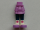 Part No: 92250c00pb13  Name: Mini Doll Friends Hips and Layered Skirt, Dark Blue Legs and White Boots with Medium Lavender Toes and Magenta Snowflakes Pattern