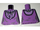 Part No: 973pb2470  Name: Torso Female Dress with Lavender Ruffled Collar Front and Back Pattern
