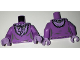 Part No: 973pb2470c01  Name: Torso Female Dress with Lavender Ruffled Collar Front and Back Pattern / Medium Lavender Arms / Lavender Hands