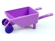 Part No: 98288c05  Name: Minifigure, Utensil Wheelbarrow Frame with Dark Purple Trolley Wheels (98288 / 2496)