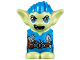 Part No: 28614pb09  Name: Body / Head Goblin with Pointed Ears, Dark Azure Spiked Hair and Tunic with Utility Belt with Goblin Eye Buckle, Trowel and Pouch Pattern