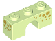 Part No: 4490pb05  Name: Brick, Arch 1 x 3 with Gold Spots on Three Sides Pattern