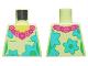 Part No: 973pb3441  Name: Torso Female, Dark Pink and Magenta Lei, Medium Azure and Bright Green Flowers Pattern
