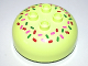 Part No: 98220pb06  Name: Duplo, Brick Round 4 x 4 Dome Top with 2 x 2 Studs and Candy Sprinkles Pattern