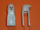 Part No: 10173  Name: Minifig, Headgear Head Cover, Ghost Shroud with Open Mouth