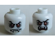 Part No: 3626cpb0757  Name: Minifig, Head Dual Sided Alien with Fangs, Red Eyes, Angry Eyebrows, Mouth Closed / Mouth Open Pattern (Lord Vampyre) - Stud Recessed