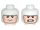 Part No: 3626cpb1475  Name: Minifig, Head Dual Sided Balaclava, Cheek Lines, Frown / Clenched Teeth (Batman) Pattern - Stud Recessed
