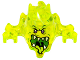 Part No: 19861pb02  Name: Minifig, Headgear Ninjago Skreemer Mask with Dark Purple Eyes and Mouth Open with White Pointed Teeth and Yellowish Green Tongue Pattern