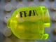 Part No: 30151apb03R  Name: Brick, Round 2 x 2 x 1 2/3 Dome Top with 'FEAR' Pattern Right (Sticker) - Set 7786