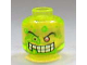 Part No: 3626bpb0293  Name: Minifigure, Head Slime Face, 1 Red Eye, White Teeth, Missing Tooth Pattern - Blocked Open Stud