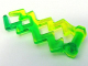 Part No: 59233pb02  Name: Wave Angular (Electric Zigzag, Castle Magic Spark) with Marbled Trans-Bright Green Pattern