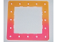 Part No: clikits069pb01  Name: Clikits Frame, Square with 5 x 5 Holes Arrangement, color graduating to Trans-Dark Pink