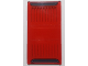 Part No: 57895pb052  Name: Glass for Window 1 x 4 x 6 with Red Laser Bars Pattern (Stickers) - Set 76048