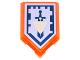 Part No: 22385pb029  Name: Tile, Modified 2 x 3 Pentagonal with Nexo Power Shield Pattern - Backfire