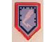Part No: 22385pb035  Name: Tile, Modified 2 x 3 Pentagonal with Nexo Power Shield Pattern - Backlash Lightning