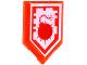 Part No: 22385pb038  Name: Tile, Modified 2 x 3 Pentagonal with Nexo Power Shield Pattern - Bomb Blast
