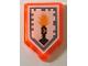 Part No: 22385pb040  Name: Tile, Modified 2 x 3 Pentagonal with Nexo Power Shield Pattern - Flash Cannon