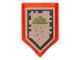 Part No: 22385pb056  Name: Tile, Modified 2 x 3 Pentagonal with Nexo Power Shield Pattern - Ice Rain