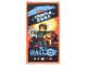 Part No: 57895pb045  Name: Glass for Window 1 x 4 x 6 with Movie Poster with Blue 'GALIDOR', 'COMING SOON' and 2 Minifigures Pattern (Sticker) - Set 70620