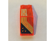 Part No: 6070pb021R  Name: Windscreen 5 x 2 x 1 2/3 with Orange Circuitry Pattern Model Right Side (Stickers) - Set 72004