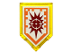 Part No: 22385pb025  Name: Tile, Modified 2 x 3 Pentagonal with Nexo Power Shield Pattern - Target Blaster