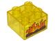 Part No: 3437pb092  Name: Duplo, Brick 2 x 2 with Burning Logs Pattern